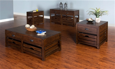 Canyon Creek 3 Piece Occasional Table Set in Kingswood Finish by Sunny Designs - SD-3266KW