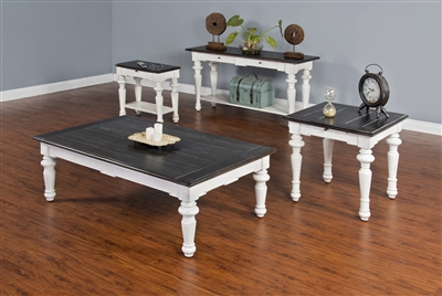 3 Piece Occasional Table Set in European Cottage Finish by Sunny Designs - SD-3273EC
