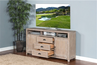 66 Inch TV Console in Mountain Ash Finish by Sunny Designs - SD-3563MA-66