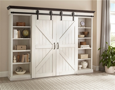 Carriage House Entertainment Wall in European Cottage Finish by Sunny Designs - SD-3599EC