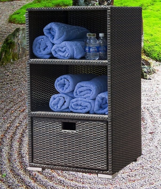 Zen Wicker Towel Storage By Source Outdoor So 049 41