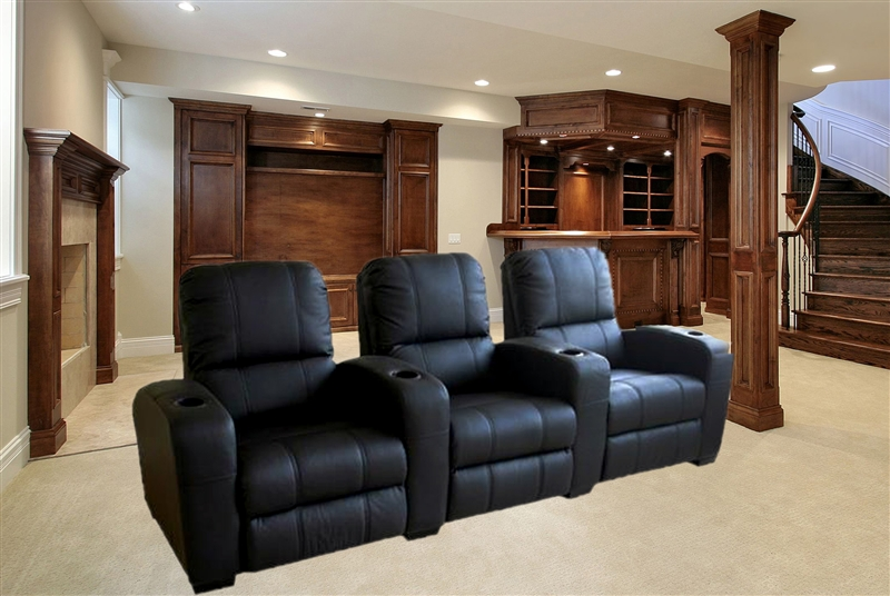 Leather Theater Sofa Magnolia Home Theater Seating In