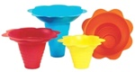 Flower Sno-Cone Drip Trays - 12 oz